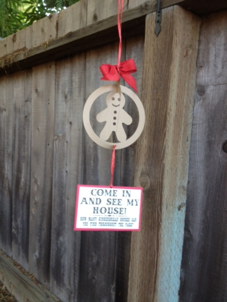 Look for the gingerbread ornaments outside the shop to see which business has a gingerbread house inside.